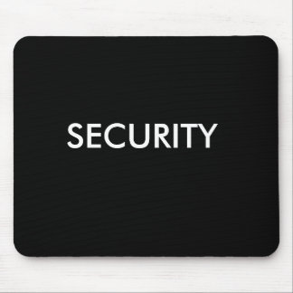 SECURITY black white Mouse Pad