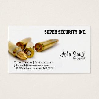 Security Bodyguard Bullets Business Card