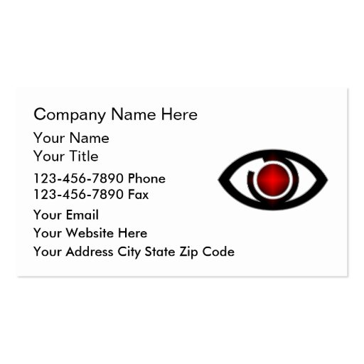 Security business cards business card templates for Cctv business card