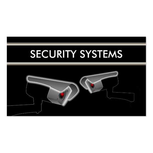 Security system gifts t shirts art posters other for Cctv business card