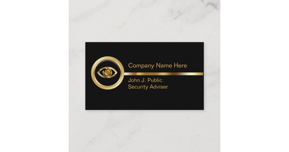 Security Business Cards | Zazzle.com