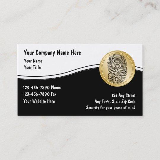 Security Business Cards Zazzle