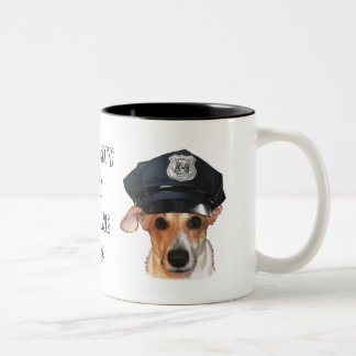 Security by K-9 Cop Two-Tone Coffee Mug
