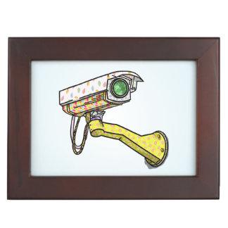 Security Camera Multi Coloured Memory Box