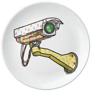 Security Camera Multi Coloured Plate