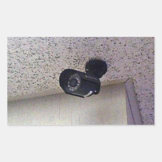 Security camera rectangular sticker