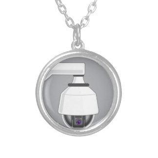 Security Camera Round Pendant Necklace