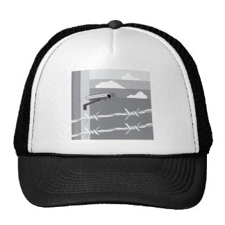 Security Camera. Secure Facility. Trucker Hat