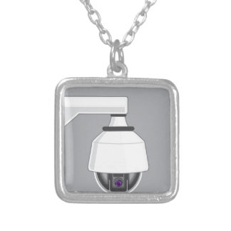 Security Camera Square Pendant Necklace