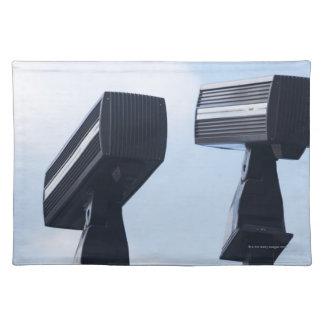 Security cameras placemat