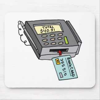 Security Chip Credit Card Machine Mouse Pad