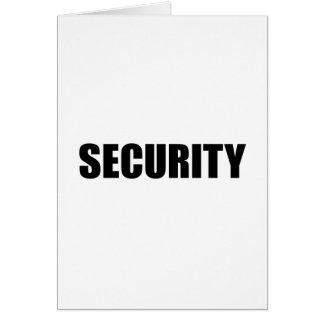 Security Concert Event Costume Uniform Card