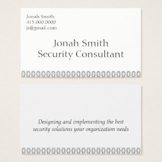 Security Consultant Business Card