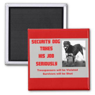 Security Dog Magnet