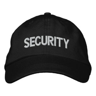 SECURITY EMBROIDERED BASEBALL CAP