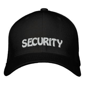 SECURITY EMBROIDERED BASEBALL HAT