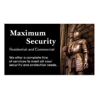 Security Firm Business Cards