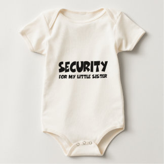 Security for my little more sister baby bodysuit