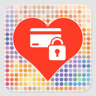 Security Gift Square Sticker
