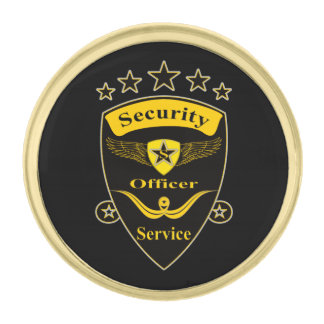 Security Gold Finish Lapel Pin