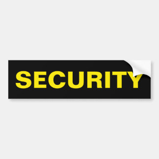 SECURITY - Golden Yellow Logo Bumper Sticker