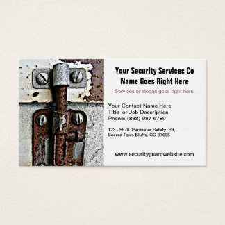 Security Guard Company Locked Bolt Business Card
