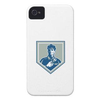 Security Guard Flashlight Shield Retro Case-Mate iPhone 4 Cases