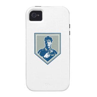 Security Guard Flashlight Shield Retro iPhone 4 Cases