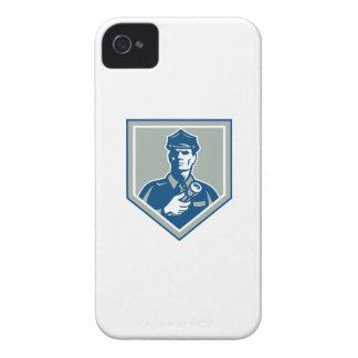 Security Guard Flashlight Shield Retro iPhone 4 Case