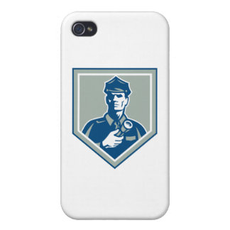 Security Guard Flashlight Shield Retro Case For The iPhone 4