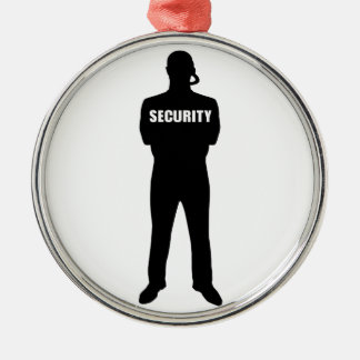 Security guard metal ornament