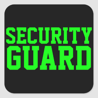 Security Guard Neon Green Sticker