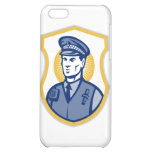 Security Guard Policeman Officer With Shield iPhone 5C Cases