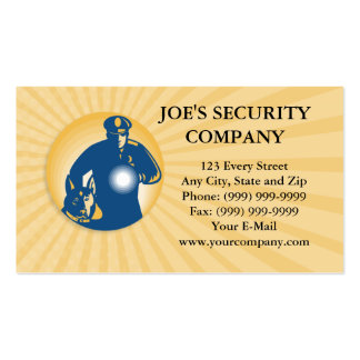 Security Guard Policeman Police Dog Double-Sided Standard Business Cards (Pack Of 100)