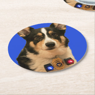 Security Guard Round Paper Coaster