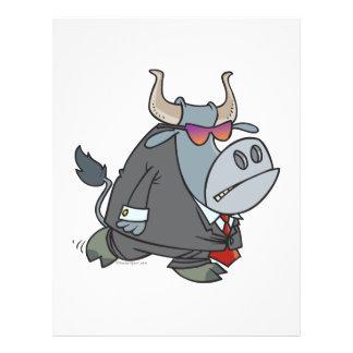 """security guard tough bull cartoon 8.5"""" x 11"""" flyer"""