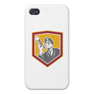 Security Guard With Flashlight Shield Retro Covers For iPhone 4