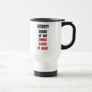 Security Guard Zombie Slayer 15 Oz Stainless Steel Travel Mug
