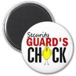 Security Guard's Chick Fridge Magnet