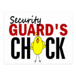 Security Guard's Chick Post Cards