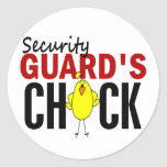 Security Guard's Chick Stickers