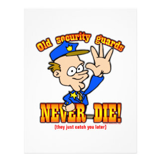 """Security Guards 8.5"""" X 11"""" Flyer"""