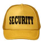 Security Hat - black text