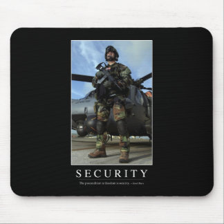 Security: Inspirational Quote 1 Mouse Pad