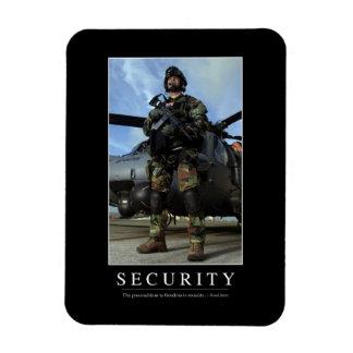 Security: Inspirational Quote 1 Rectangular Photo Magnet