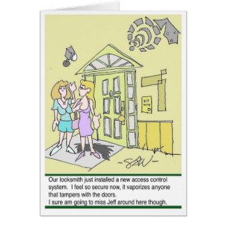 Security Locksmith Funny Cards