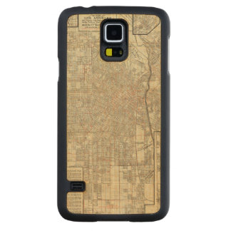 Security map and Street Railways in Los Angeles Carved Maple Galaxy S5 Case