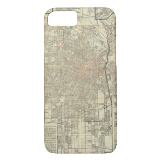 Security map and Street Railways in Los Angeles iPhone 7 Case