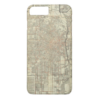 Security map and Street Railways in Los Angeles iPhone 7 Plus Case