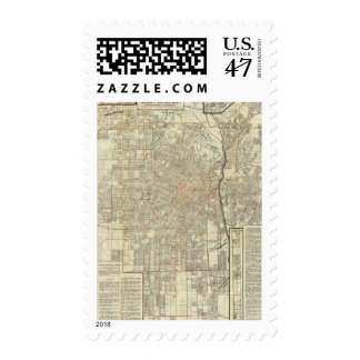 Security map and Street Railways in Los Angeles Postage